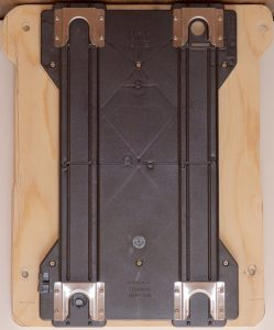 The Slide Lock mounted on the board